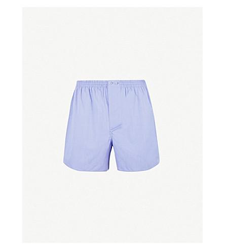 ZIMMERLI 梭织休闲版型棉拳击手短裤 (蓝色