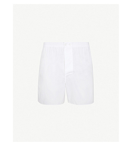 ZIMMERLI Woven relaxed-fit cotton boxer shorts (White