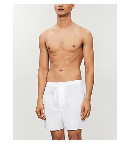 ZIMMERLI Woven cotton boxer shorts (White