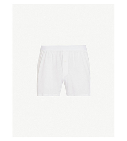 SUNSPEL Q82 loose-fit superfine cotton boxers (White