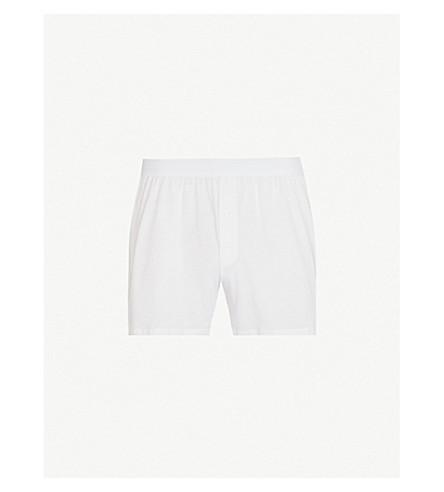 SUNSPEL Q82 宽松版型超细棉四角内裤 (白色