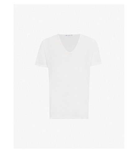 SUNSPEL Cellular cotton T-shirt (White