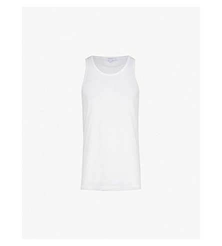 SUNSPEL Cotton vest (White