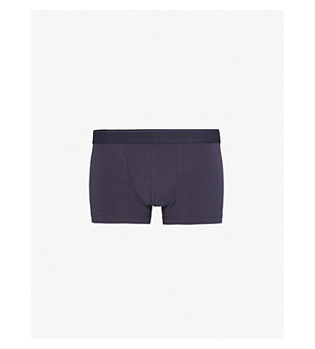 SUNSPEL Jersey slim-fit jersey trunks (Navy