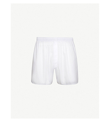 SUNSPEL Classic relaxed-fit cotton boxers (Plain+white