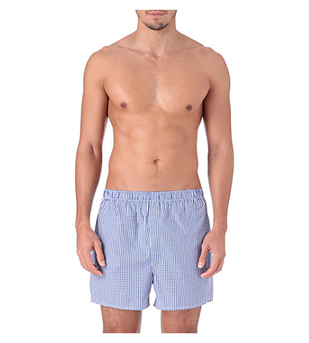 SUNSPEL Gingham boxers (Blue