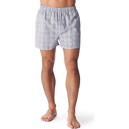 SUNSPEL Checked boxer shorts (Indigo