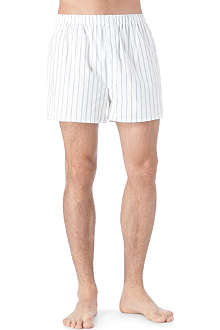 SUNSPEL Denim stripe boxer shorts