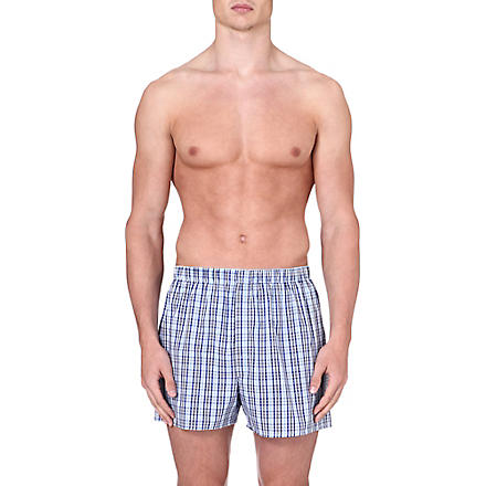 SUNSPEL Tonal check boxer shorts (Blue