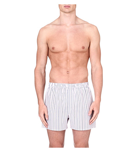 SUNSPEL Striped boxer shorts (White