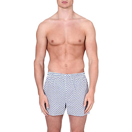 SUNSPEL Diamond-print boxer shorts (White
