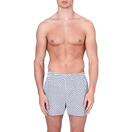 SUNSPEL Diamond-print boxer shorts (White