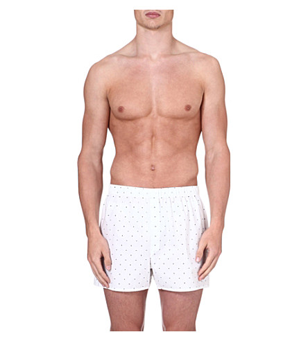 SUNSPEL Dots and cross print boxer shorts (White