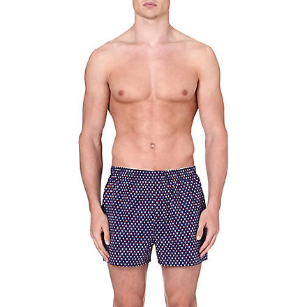 SUNSPEL Tudor Floral boxer shorts (Navy