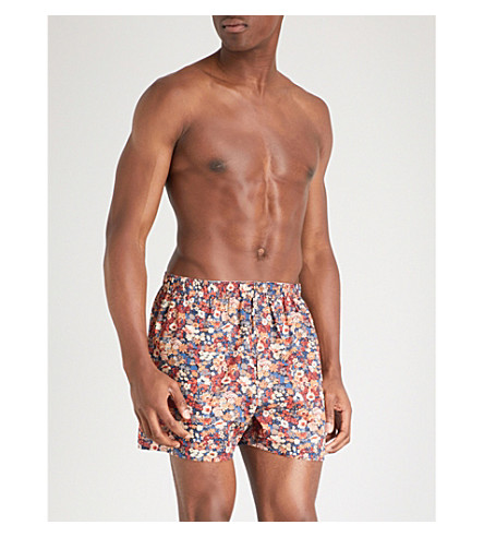SUNSPEL Relaxed-fit cotton boxers (Oranges