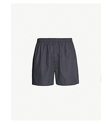 SUNSPEL Striped relaxed-fit cotton boxers (Navy