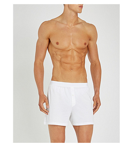 SUNSPEL Sea Island relaxed-fit cotton trunks (White