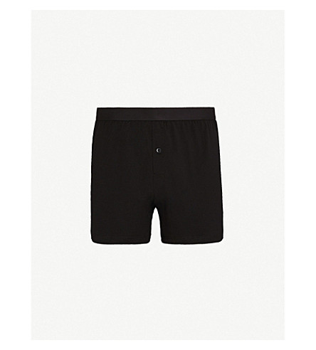 SUNSPEL Elasticated slim-fit cotton boxers (Black