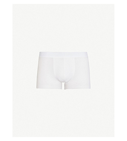 SUNSPEL Stretch slim-fit cotton-blend boxers (White