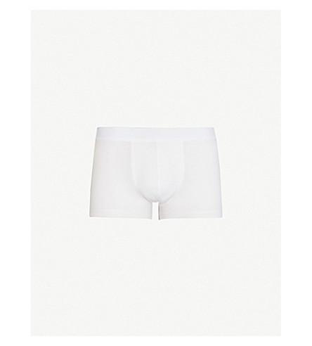 SUNSPEL 弹力修身版型棉混纺四角内裤 (白色