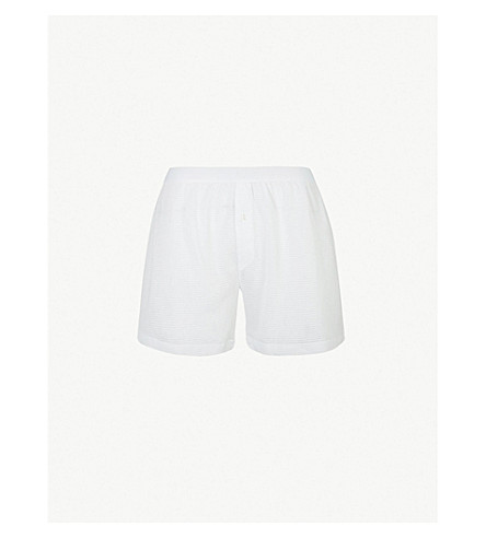 SUNSPEL Cellular classic-fit cotton boxers (White