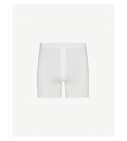 SUNSPEL Two–button boxer shorts (White