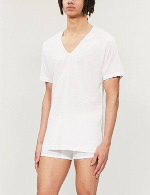 SUNSPEL Superfine v–neck t–shirt