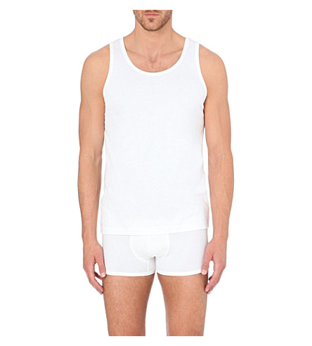 SUNSPEL Sea Island cotton vest (White
