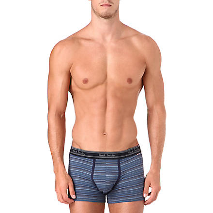 PAUL SMITH Striped cotton trunks (Blue+multistripe