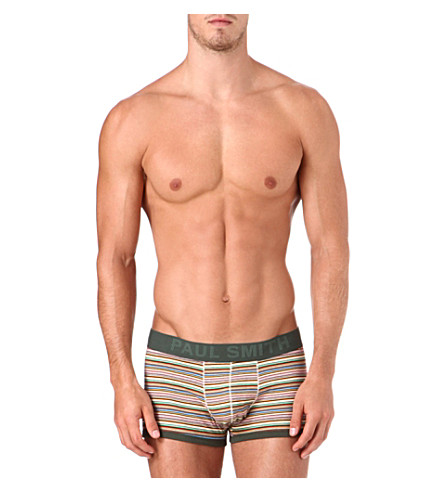 PAUL SMITH Striped cotton trunks (Multistripe
