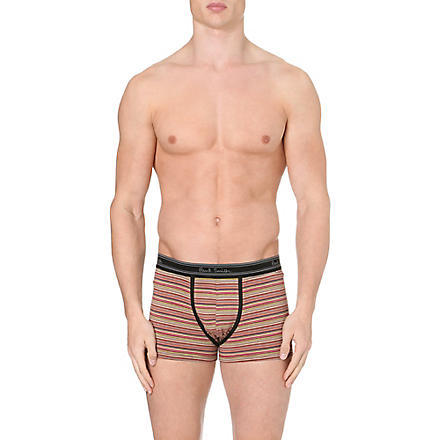 PAUL SMITH Pack of two stretch-cotton trunks (Black