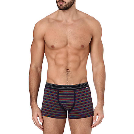 PAUL SMITH Striped cotton trunks (Navy
