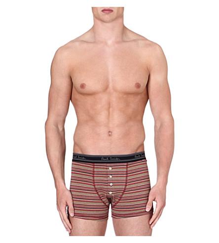 PAUL SMITH Multistripe stretch-cotton trunks (Multi