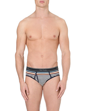 PAUL SMITH Striped stretch-cotton briefs