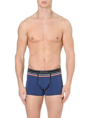 PAUL SMITH Striped stretch-cotton trunks