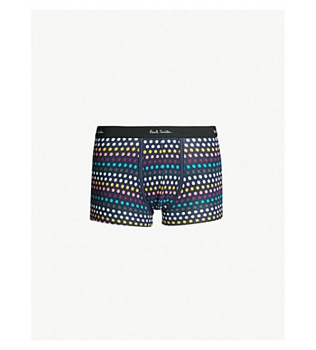 PAUL SMITH Polka dot stretch-cotton classic-fit trunks (Navy