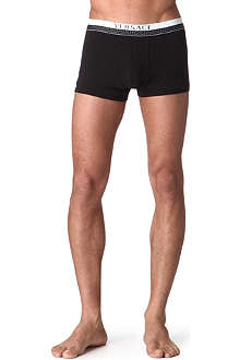 VERSACE Low-rise meander-print trunks