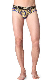 VERSACE Ornate animal-print swim trunks
