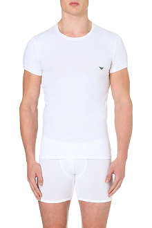ARMANI Stretch–cotton t–shirt