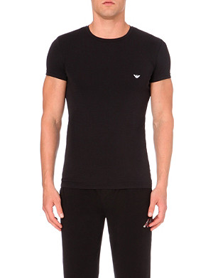 EMPORIO ARMANI Stretch–cotton t–shirt
