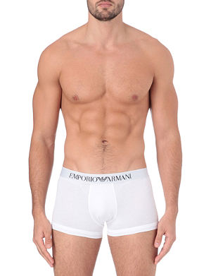 EMPORIO ARMANI Stretch–cotton trunks