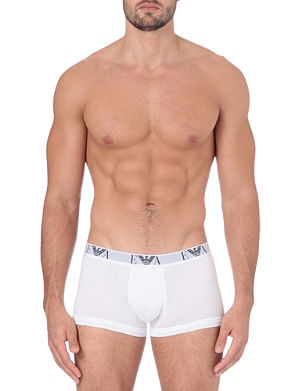 EMPORIO ARMANI Two pack logo–waistband trunks