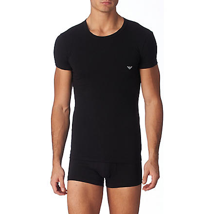 ARMANI Eagle crew neck t–shirt (Black