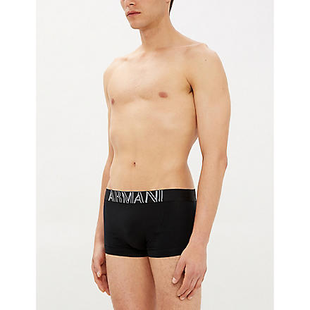 EMPORIO ARMANI Eagle trunks (Black