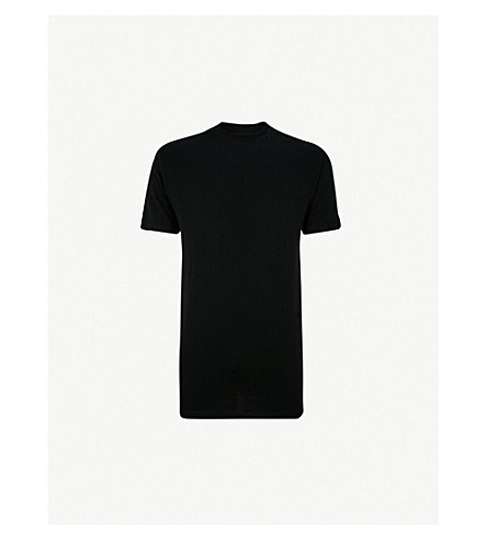 HOM Crew neck cotton T-shirt (Black