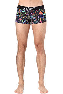 HOM Neon disco print trunks