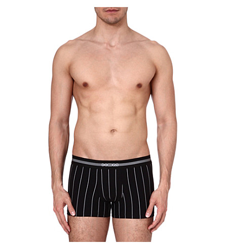 HOM Elegant pin-striped trunks (Black