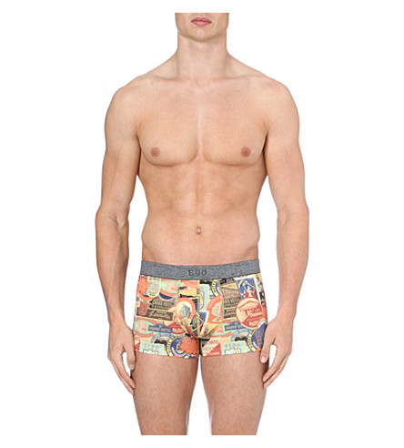 HOM Ego hotel-print trunks (Multi