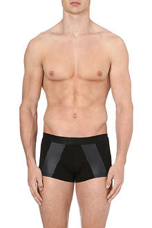 HOM Black Addict panelled trunks