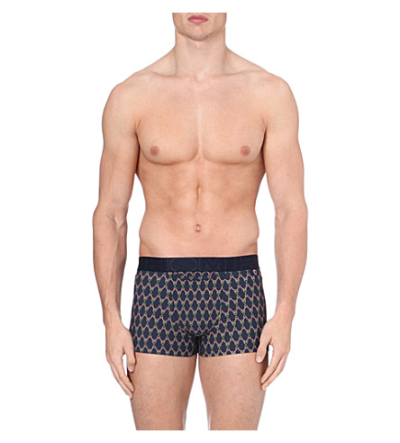 HOM Graphic print trunks (Navy